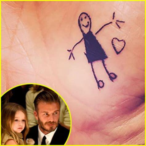 david beckham tattoo by daughter harper beckham news photos and videos just jared