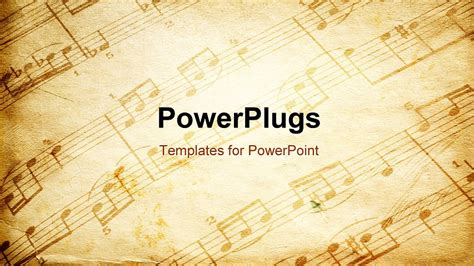 presentation templates for music powerpoint template vintage paper background depicting