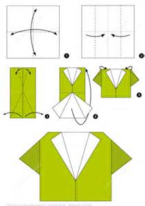Origami Step By Step - how to make an origami shirt step by step