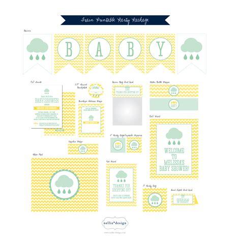 printable baby shower nellie design rain shower baby shower