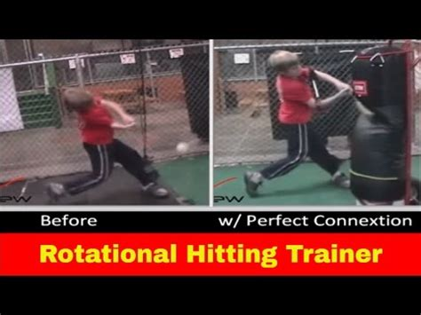 perfect swing baseball trainer rotational hitting aid baseball softball swing trainer