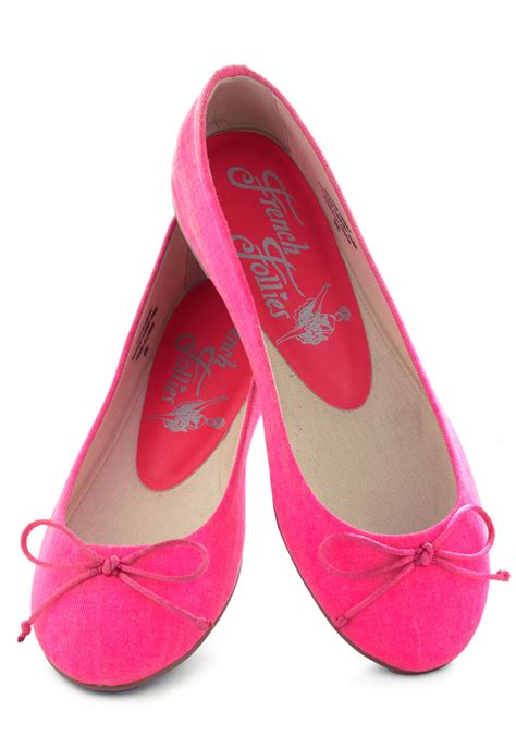 pink flats shoes bright around the corner flat in pink mod retro