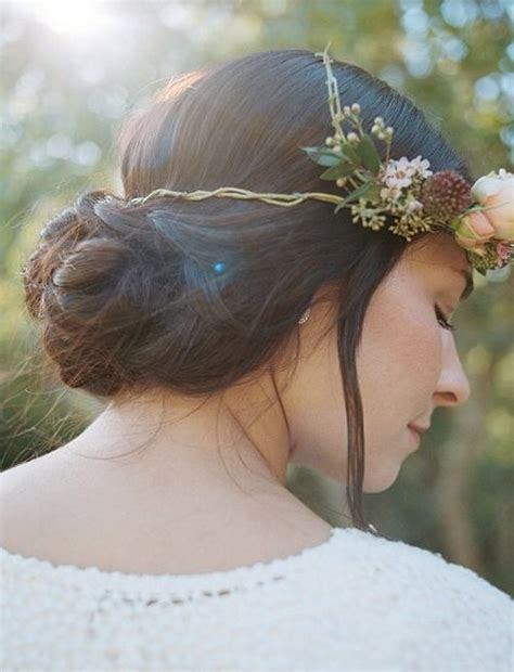 the triple braided bun with flower crown hairstyle design page 4 of winter wedding hairstyles for 2017 2017 haircuts