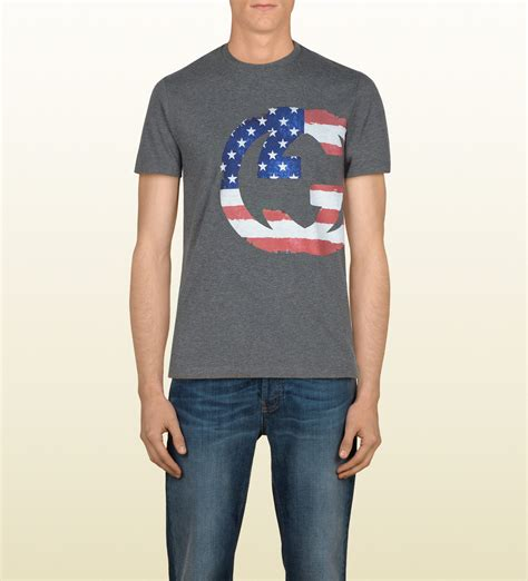 Jmp Dress Guccie Limited Edition lyst gucci limited edition flag tshirt in gray for
