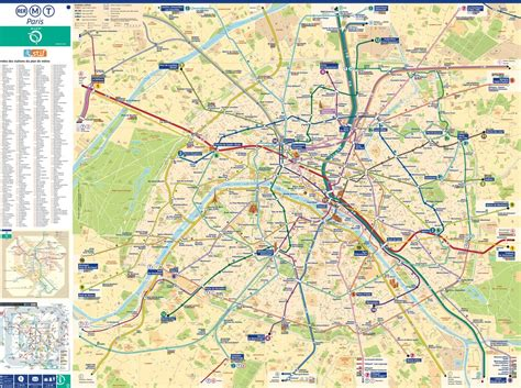 printable paris road map paris street map with metro maplets
