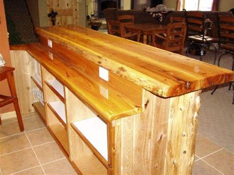 custom bar top ideas level white cedar bar log corners