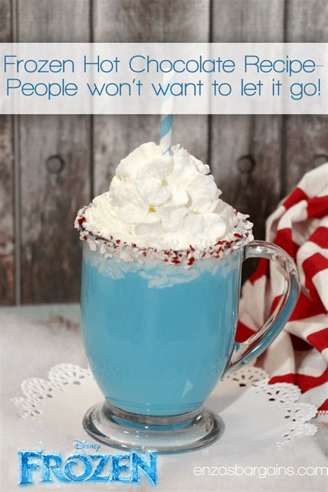 frozen in hot disney s frozen hot chocolate recipe blue hot chocolate