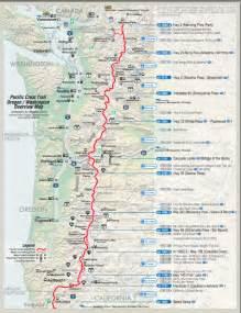 pacific crest trail oregon map pacific crest trail washington map
