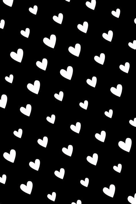 black and white heart pattern wallpaper it s all about hearts black hearts pinterest