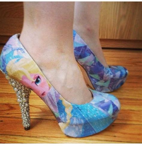 frozen high heels elsa frozen shoes these clothes and accessories