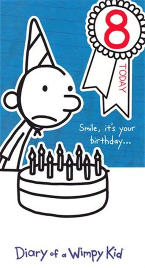 printable diary of a wimpy kid birthday card pinterest the world s catalog of ideas