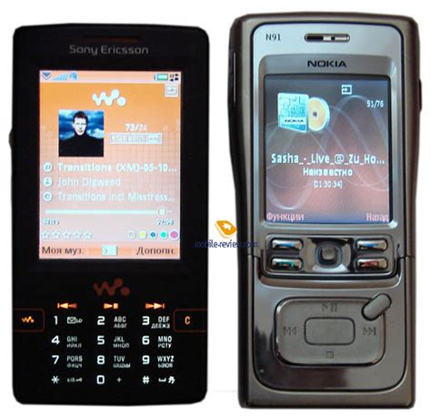 Casing Nokia N91 comparison of smartphones nokia n91 and sony