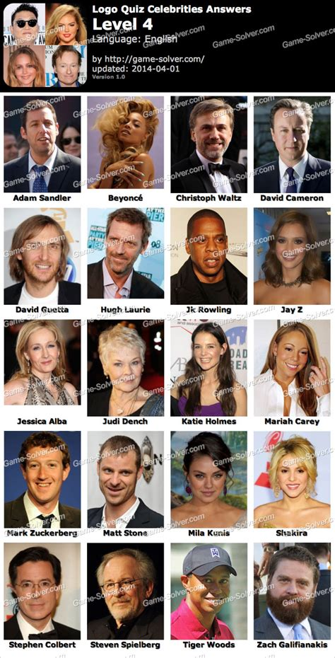 celebrity games and quizzes logo quiz celebrities level 4 game solver