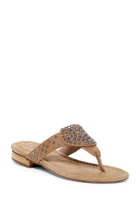 chocolat sandals lyst chocolat bianka studded sandal in brown