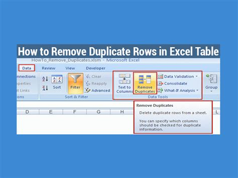 how to strip a table and how to remove duplicate rows in excel table exceldemy