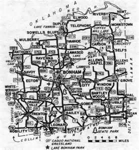 map of bonham the cobbs of fannin county
