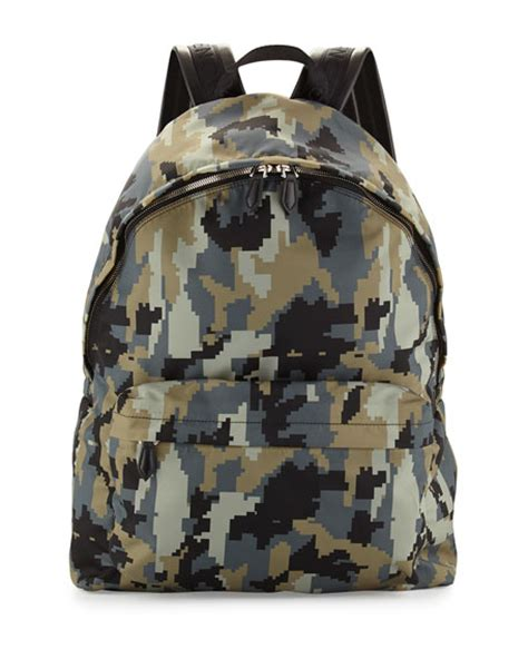 Camo Print Backpack givenchy digital camo print backpack green neiman