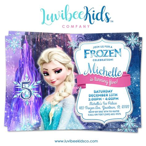 printable birthday cards elsa frozen birthday invitation frozen elsa birthday party