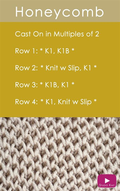 how to knit with how to knit the honeycomb brioche stitch pattern studio knit