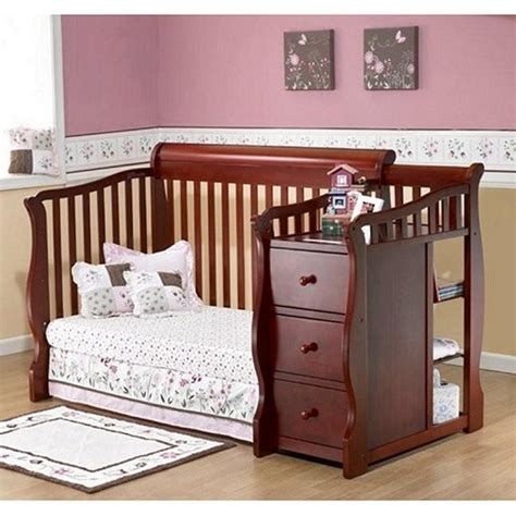 Sorelle Tuscany 4 In 1 Convertible Fixed Side Crib And 4 In 1 Baby Crib With Changing Table
