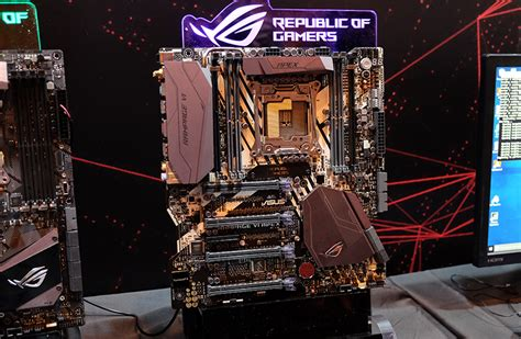 Asus Rage Vi Apex Mainboard asus all of the intel x299 boards announced so far