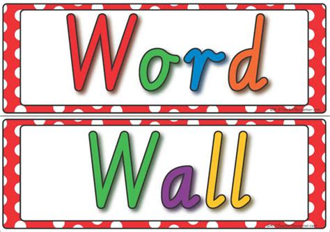 vocabulary word wall template word wall display k 3 resources