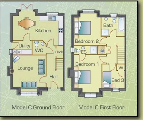 semi detached floor plans find house plans