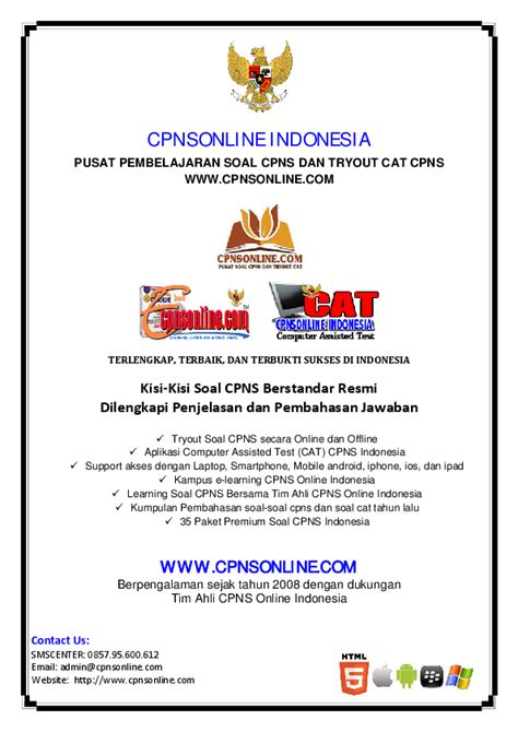 soal cpns indonesia bangsoal