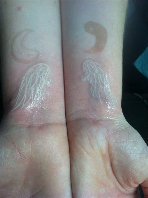 white ink henna tattoo white ink wing and yin yang henna ink
