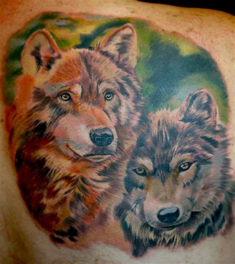 tattoos of wolves the map tattoos animal wolves