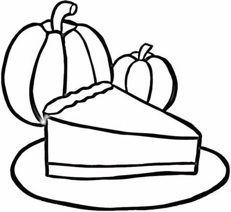 piece of pumpkin pie coloring page free printable