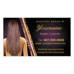 hair braiding business cards loctician hair braider salon braids sided standard