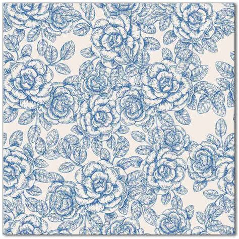 Rose Pattern Wall Tiles | light blue and white roses ceramic wall tile