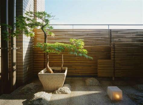 balkon garten bambus balkon sichtschutz gestaltung ideen im feng shui stil
