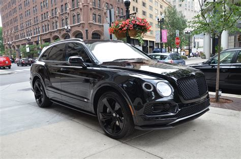 black and gold bentley 2018 bentley bentayga black edition stock b960 s for