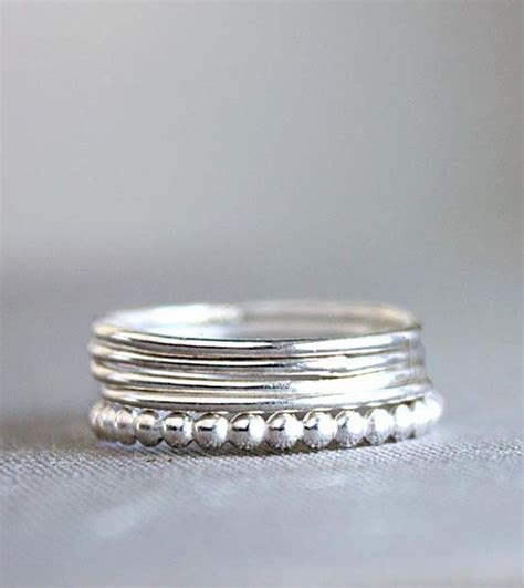 sterling silver stacking rings silver rings