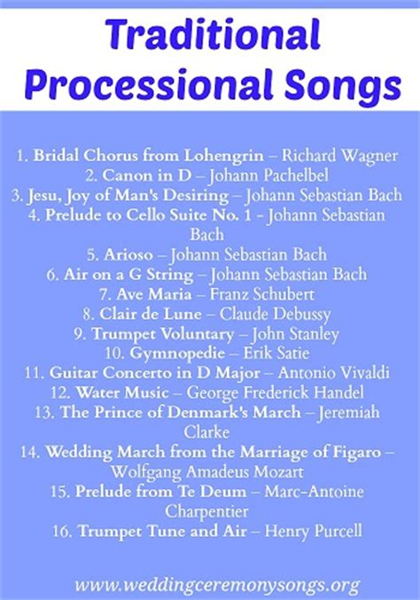 Wedding Aisle Songs Modern by Processional Songs Wedding Ceremony Songs