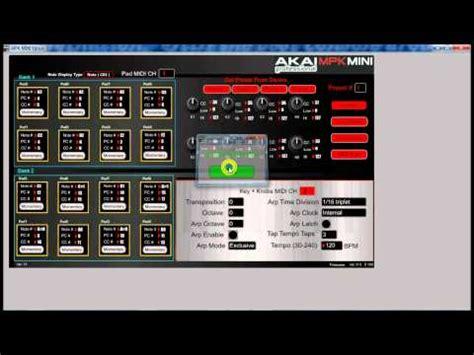akai mpk mini tutorial 1 sle triggering basics how to setup the mpk mini doovi