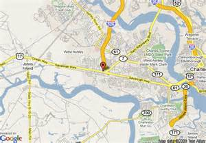 west carolina map map of hton inn and suites charleston west