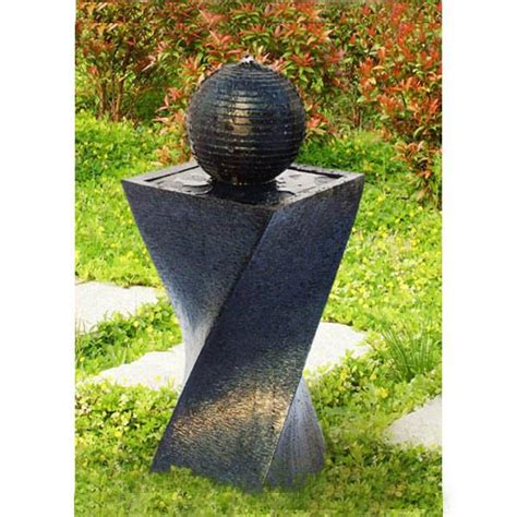 Outdoor Decor Garden Fountains Solar Panel Water Indoor Outdoor Garden Decor W New