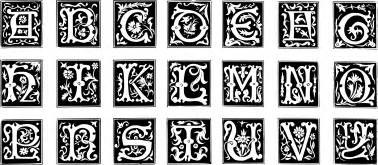 Decorative Alphabets And Initials by Clipart Decorative Letter Set