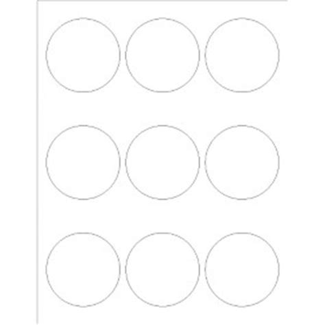 round templates for word templates glossy print to the edge round labels 9 per
