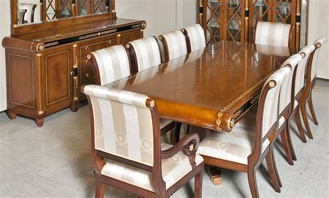 european empire style dining room furniture in cherry wood