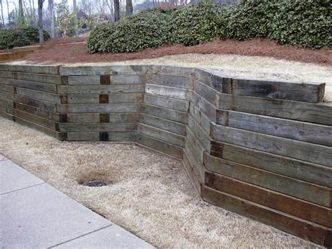 Landscape Timbers Retaining Wall Landscaping Timber Jen Joes Design Best Landscaping