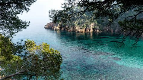 fondos de pantalla espana girona mar bahia arboles