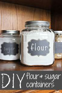 Cute Kitchen Canister Sets diy gift idea flour and sugar storage containers