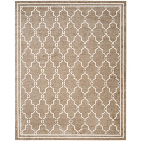 rectangle area rugs safavieh amherst wheat beige 8 ft x 10 ft indoor outdoor rectangle area rug amt414s 8 the