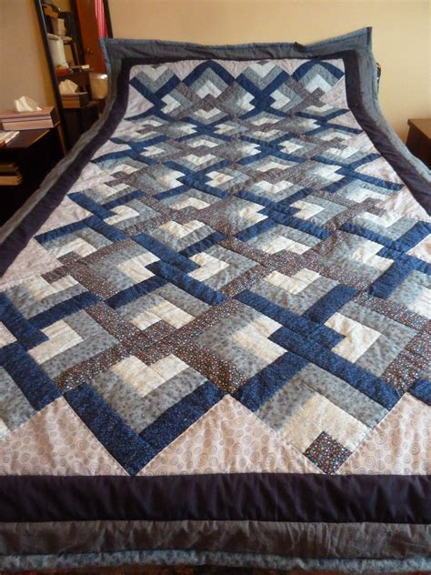 Knotted Quilt by Marlene S Space Blue Knot Quilt Done
