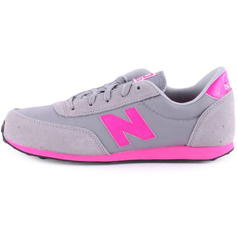 new balance neon 410 suede grey pink trainers