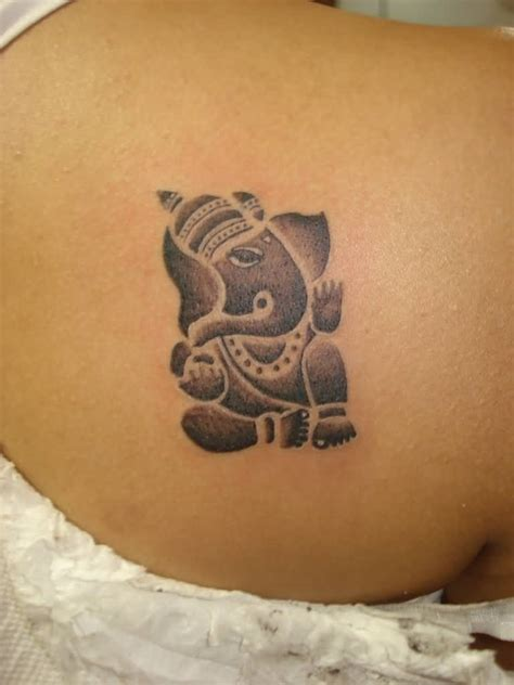 simple back tattoos 22 simple ganesha tattoos